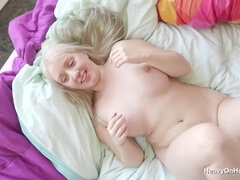 Nasty blonde plumper Marylin sex video with old man
