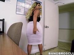 Sexy blonde Serbian with a round booty gets an rectal surprise