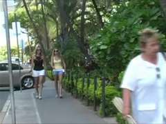 legal teen Carli Banks getting off in public