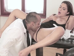 Valentina Nappi seduce and tease her boss into hard office fuck