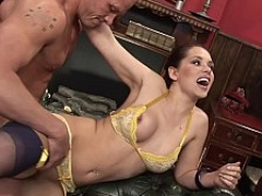 Sinful wife cheating on her husband in front of him