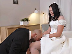 RIM4K. Relaxing with dick inside cunt makes bride bold enough to lick ass
