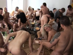 Melons Blonde Cum Covered at Home Party