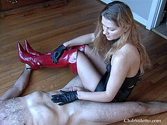 erotic trampling in footwear part 7
