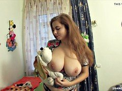 Sweet russian legal teen  with a sizeable set of natural breasts