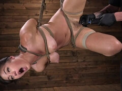 Dominated bonded hottie Kendra Spade is getting humiliated in the dungeon