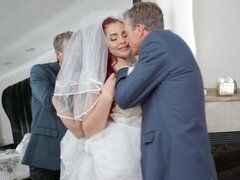 Shameless bride fucks her father-in-law just before wedding