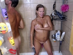 Sizeable Boobs on my ex in shower Diddle