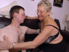 Horny Granny wants his young throbbing dick