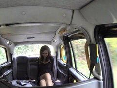 Tina Kay gives a rimjob & bj then fucks the taxi driver in & on the cab