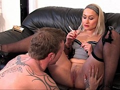 Blonde Eager mom smoking and having sex