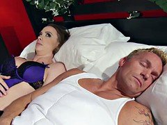 Married female Chanel Preston gets titfucked and additionally her vagina plowing by thief