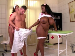 Sultry Nurses Use Handsome Patient As Sex Toy