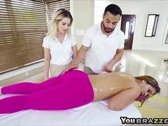 Big tits Miss Raquel give head and also have an intercourse on massage