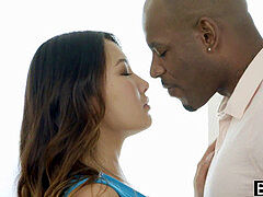 BLACKED Tight Asian stunner Jade Luv squeals on thick Black Cock