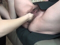 four horny old and young sluts sharing one dude
