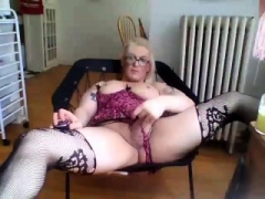 Large boobs soccer mom in stockings fucked sideways
