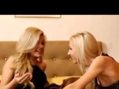 two red-hot blondes, rich girls with Adriana & Sammie