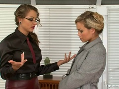 Gina Killmer Controls the Office Orgy Scene