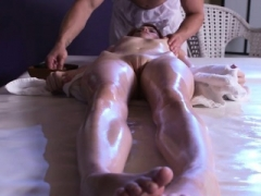 Redhead Anne Swix Gets Fingered By Masseur