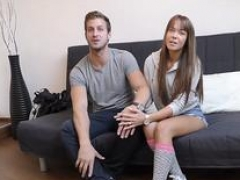 HUNT4K. Broad Angella Christin fucked by stranger on couch for cash