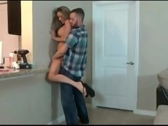 Stepson wrestling with his fit Stepmom