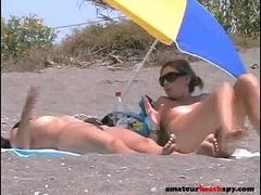 Beach nudist broads exposed by hidden cam