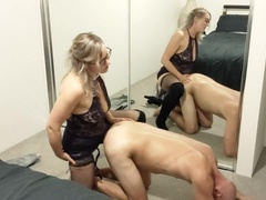 Empowering pegging session in front of full length mirrors - MIN MOO
