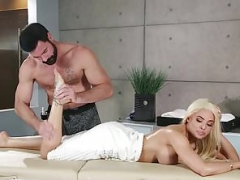 Snotty Latina Put in Her Place and furthermore Squirts for Well-endowed Masseur!