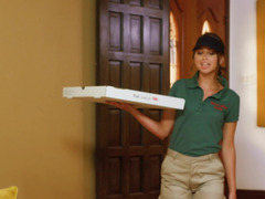 Big-boobied Eager mom has an affair with pizza courier