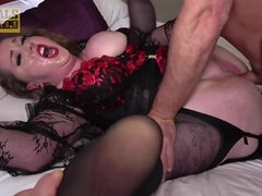 Fat BBW Kitten Fed and Dominated By Master - anal sex with big ass mom