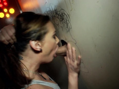 Gloryhole movie with ardent lady that blows several knobs