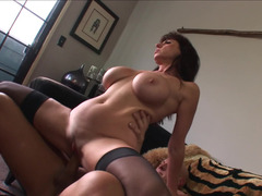 Love bubbles mom i`d like to fuck hottie Karen Cougar climbs aboard the boner