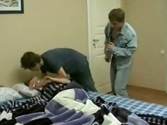 Brunette from Homemade College Russian Orgy movie 2