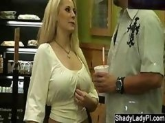 Blonde Bitch Caught Stepping Out