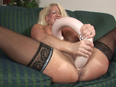 Huge dildos are no challenge for Alura Jenson