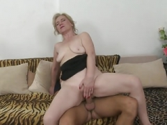 Taboo sex with aged mom Janka and young and fresh boy