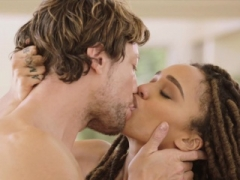 TUSHY Gorgeous interracial couple experience anal