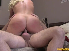 Pretty British Victoria Summers fucked by a fake UK agent