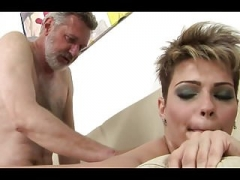 Brunette short hair fucked journey