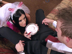 Sexy bachelorette has an intercourse a immense cock dude before her wedding