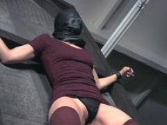 Minion beauty gets bent over and flogged