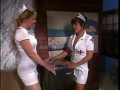 The nurse's uniform gets torn while some hot fucking goes on