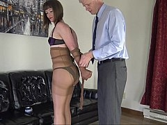 Bondage of mummification of a young and fresh gal