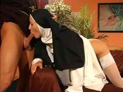 Oozy fuck hole nun backdoor fucked by the priest