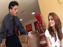 Allie Haze scores ugly aged guy