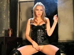 Blonde Smoking Femdom goddess Giving the Intructions