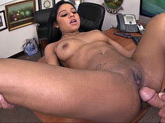 slender girl aaliyah grey gets her pussy smashed on the desk