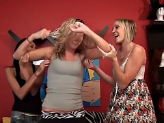 blonde gets ticklish level tested and armpits licked