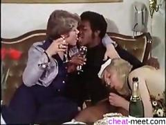 Vintage German ladies fuck a black stallion in a threesome